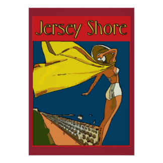 Jersey Shore Vintage Style Poster