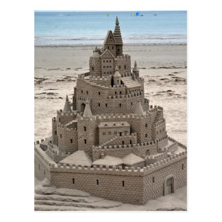 Jersey - St. Helier - Sand Castle on The Beach