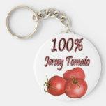 Jersey Tomatoes 100% Basic Round Button Keychain
