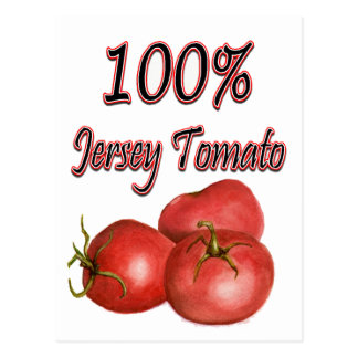 Jersey Tomatoes 100% Postcard