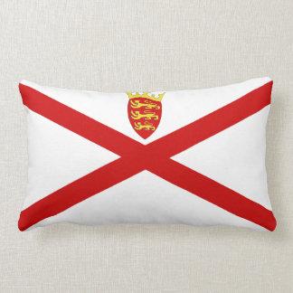 Jersey U.K. flag Lumbar Pillow