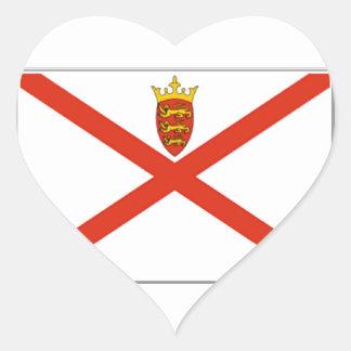 Jersey (UK) Flag Heart Sticker