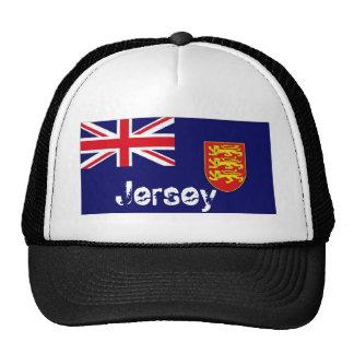 Jersey UK flag trucker mesh souvenir hat