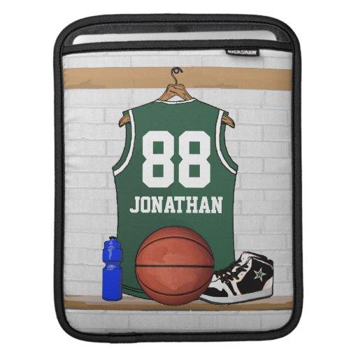 Jersey verde personalizado del baloncesto manga de iPad