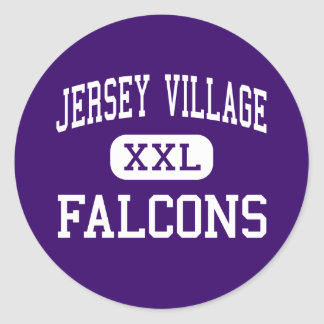 Jersey Village - Falcons - High - Houston Texas Classic Round Sticker