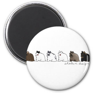 Jersey Wooly Group 2 Inch Round Magnet