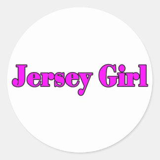 jerseygirl2 classic round sticker