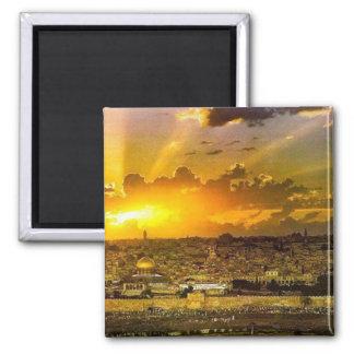 Jerusalem 2 Inch Square Magnet