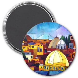 Jerusalem 3 Inch Round Magnet