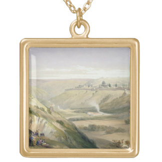 Jerusalem, April 5th 1839, plate 18 from Volume I Gold Plated Necklace