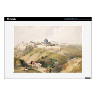 "Jerusalem, April 9th 1839, plate 16 from Volume I 15"" Laptop Decal"