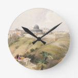 Jerusalem, April 9th 1839, plate 16 from Volume I Round Wall Clocks
