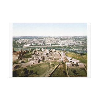 Jerusalem around 1900 canvas print