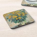 Jerusalem Artichoke Flowers, 1880 (oil on canvas) Beverage Coasters