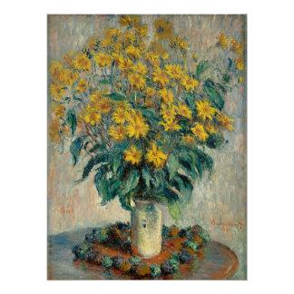 Jerusalem Artichoke Flowers, 1880 (oil on canvas) Poster