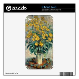 Jerusalem Artichoke Flowers, 1880 (oil on canvas) Skins For The iPhone 4