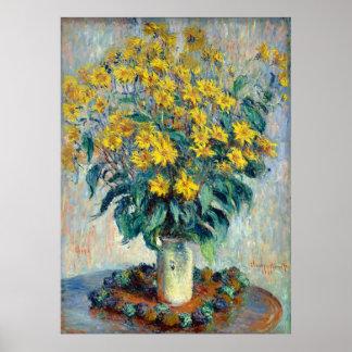 Jerusalem Artichoke Flowers, Claude Monet Poster
