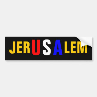 JERUSALEM CAR BUMPER STICKER