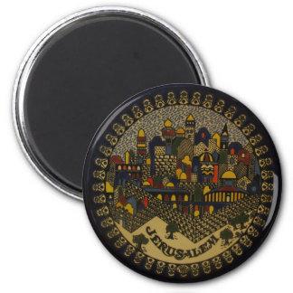 Jerusalem Ceramic 2 Inch Round Magnet