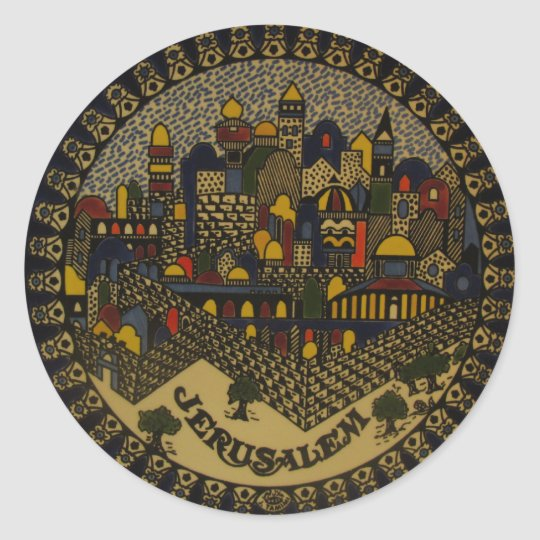 Jerusalem Ceramic Classic Round Sticker