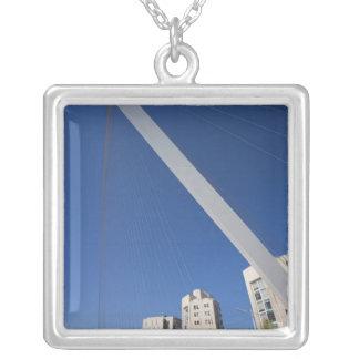 Jerusalem Chords Bridge Silver Plated Necklace