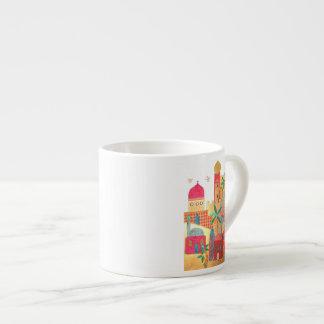 Jerusalem City Colorful Art 6 Oz Ceramic Espresso Cup