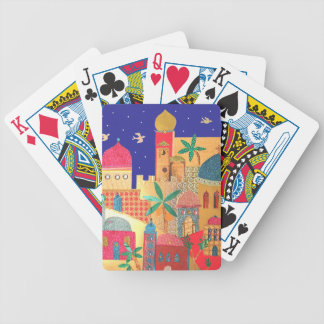 Jerusalem City Colorful Art Bicycle Playing Cards