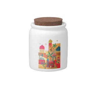 Jerusalem City Colorful Art Candy Jars