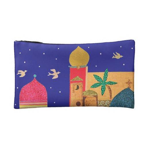 Jerusalem City Colorful Art Cosmetic Bag