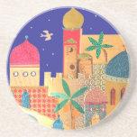 Jerusalem City Colorful Art Drink Coasters