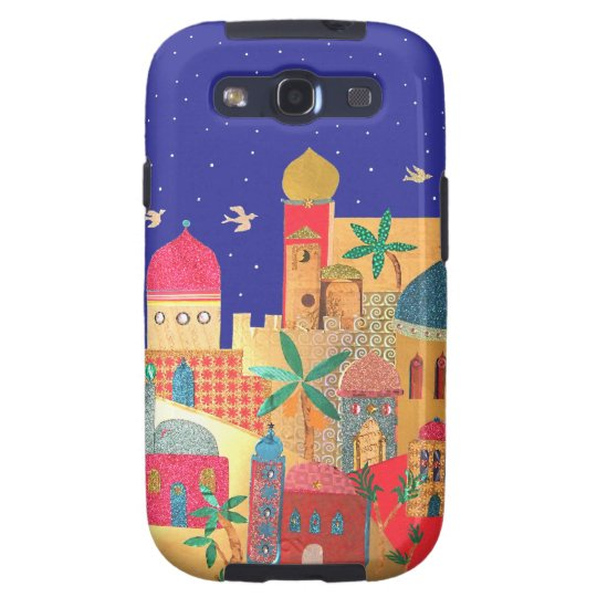 Jerusalem City Colorful Art Galaxy SIII Case