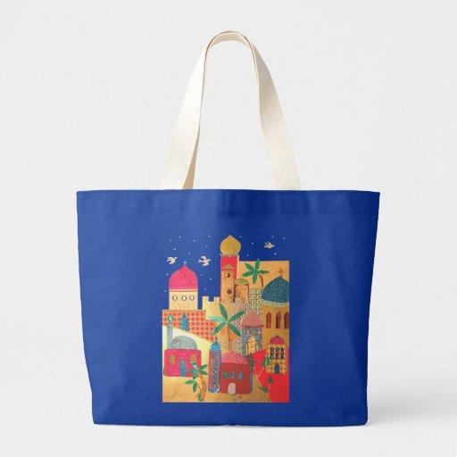 Jerusalem City Colorful Art Jumbo Tote Bag