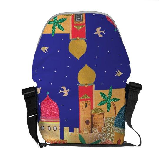 Jerusalem City Colorful Art Messenger Bag