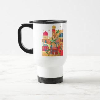 Jerusalem City Colorful Art 15 Oz Stainless Steel Travel Mug