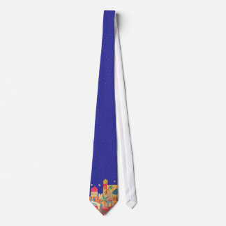 Jerusalem City Colorful Art Neck Tie