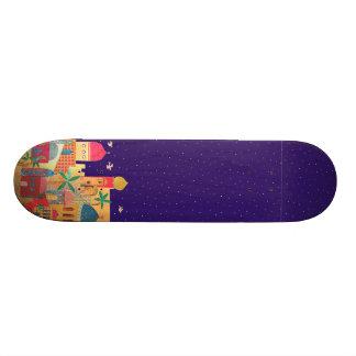 Jerusalem City Colorful Art Skateboard