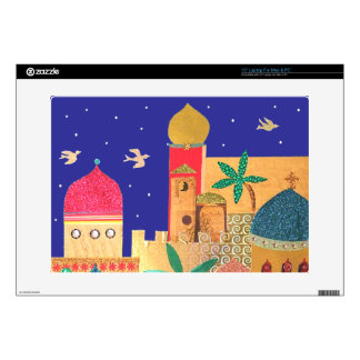 Jerusalem City Colorful Art Decal For Laptop