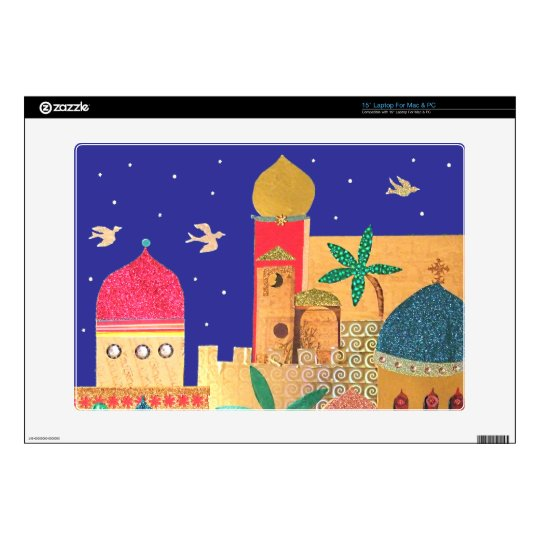 Jerusalem City Colorful Art Skin For Laptop