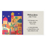 Jerusalem City Colorful Middle Eastern art Double-Sided Standard Business Cards (Pack Of 100)