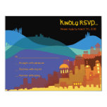 JERUSALEM CITY of GOLD Bar Bat Mitzvah Reply Card Invite