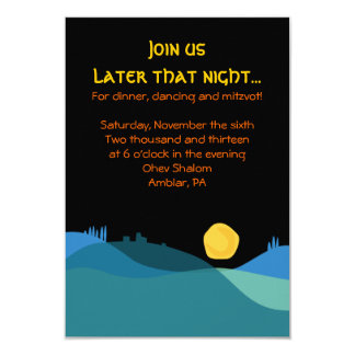 JERUSALEM CITY of GOLD Mitzvah Party Card Announcements