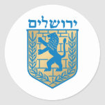Jerusalem coat of arms - Oficial Shield Round Stickers