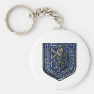 Jerusalem Crest Blue Key Chains