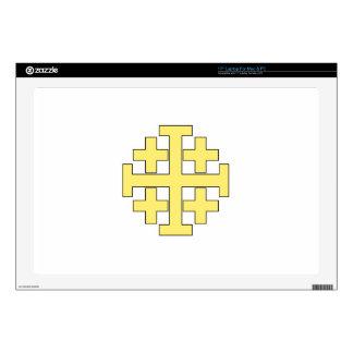 """Jerusalem Cross 17"""" Laptop Skins"""