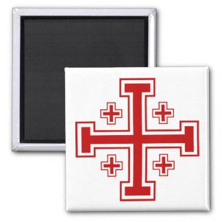 Jerusalem  Cross 2 Inch Square Magnet