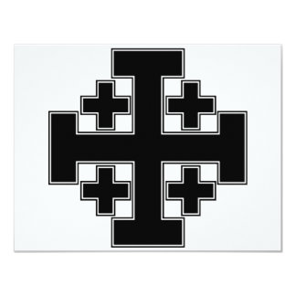 Jerusalem Cross Black Card