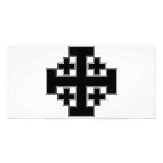 Jerusalem Cross Black Photo Cards