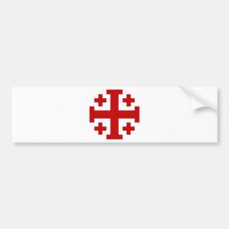 Jerusalem Cross Car Bumper Sticker
