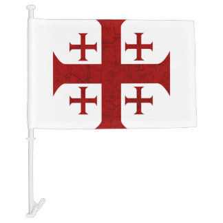 Jerusalem Cross, Distressed Car Flag