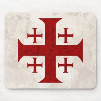 Jerusalem Cross, Distressed Mouse Pad